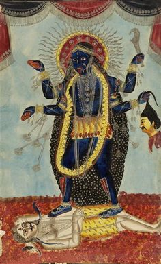 Kali et Siva. Royaume-Uni, Londres, Victoria and Albert Museum Mother Kali, Divine Mother, Art Apocalypse, Goddess Of Destruction, Kali Tattoo, Alchemy Tattoo, Kali Mata, Kali Goddess, India Art