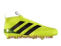 Adidas Homme Football Chaussures ACE 16+ Purecontrol Primeknit Terrain souple Solar Yellow