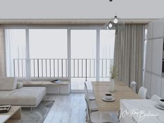 Modrá ako vítané osvieženie - Kristína Bedečová Living Room Kitchen, Conference Room, Divider, Room Ideas, Table, Furniture, Home Decor, Decoration Home, Room Decor