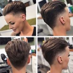 Well, one of the most trendy haircuts this year is the pixie haircut. Tomboy Hairstyles, Undercut Hairstyles, Cool Hairstyles, Hair Undercut, Girls Short Haircuts, Cute Haircuts, Pixie Cut, Queer Hair, Short Hair Cuts