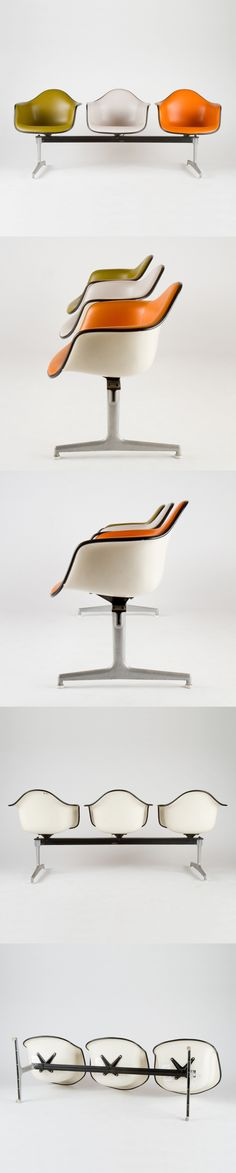 Everything's better when it is #Eames!  Vintage Eames Tandem Shell Bench circa 1970 by @hermanmiller