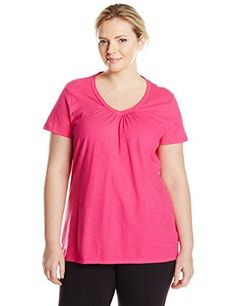 "Product review for Just My Size Women's Short Sleeve Shirred V-Neck Tee.  - Just My Size women's plus-size slub shirred V-neck is made with cotton slub fabric for a textured look lightly ribbed, wide v-neckline with flattering center shirring.   	 		 			 				 					Famous Words of Inspiration...""I haven't been with a woman in nine..."