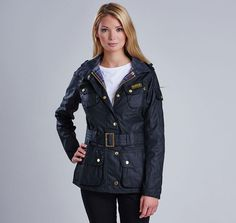 Want this Barbour jacket in navy!