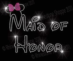 Disney Wedding MAID of HONOR Rhinestone by RhinestoneShoppe, $8.49