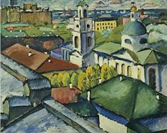 View of Moscow. Myasnitsky district - Ilya Mashkov