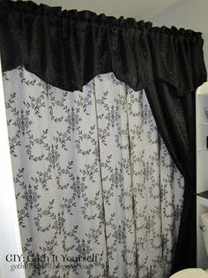 Layered Lace and Jacquard Shower Curtains