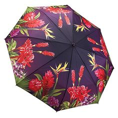 Galleria Bird Of Paradise Tropical Folding Umbrella Kids Umbrellas, Umbrellas Parasols, Rain Umbrella, Folding Umbrella, Umbrella Wedding, Brollies, Yellow Raincoat, Singing In The Rain, Tropical Paradise