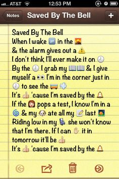 Saved by the Bell theme!!