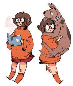 Velma and Scooby by batcii