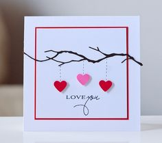 Valentine card. Simple and sweet.