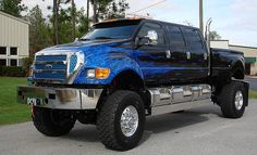Ford F650... we saw a ford just like this in Vegas last weekend,  but it was made into a limo.... it was awsome!