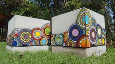 #mosaiquismo #macetas #pots #jardin #colores #mandalas