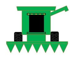 Parts of a Farm Combine Harvester Cut and Paste Craft Activity. Great way to develop fine motor skills while learning about life on a farm!