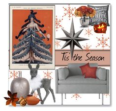 """Tis' the Season"" by stephlo-1 ❤ liked on Polyvore featuring interior, interiors, interior design, дом, home decor, interior decorating, BassamFellows, Cyan Design, Lord & Taylor и Dot & Bo"