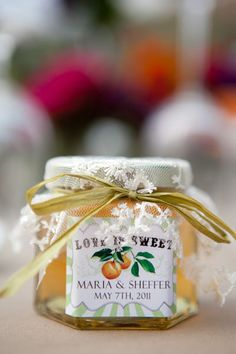 Wedding Favours - Love is Sweet. Maybe with homemade jam? #wedding #favours