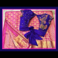 If you are looking for new & latest saree blouse design ideas for your party, fancy, silk or any other sarees, you've come to the right place. Stylish Blouse Design, Blouse Back Neck Designs, Fancy Blouse Designs, Bridal Blouse Designs, Silk Saree Blouse Designs, Saree Blouse Patterns, Silk Sarees, Trendy Sarees, Fancy Sarees