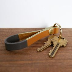 Leather Key Fob by sonofasailorSUPPLY on Etsy $20