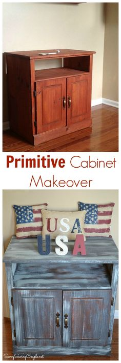 DIY Cabinet Makeover with Americana DECOR Chalky Finish paint available at Jo-Ann