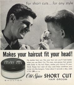 Old Spice Short Cut Hair Groom (1962).  Makes your haircut fit your head!