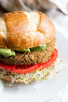 These vegan, gluten-free Pumpkin Black Bean Burgers are hearty, healthy, and super tasty. They are also freezer friendly! Perfect for a speedy lunch.