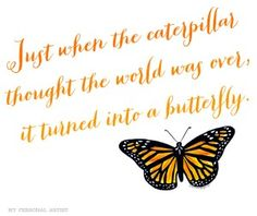 Butterfly quote  MyPersonalArtist.com
