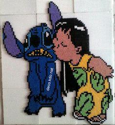 DECO.KDO.NAT: Perles hama: lilo et stitch: le bisou