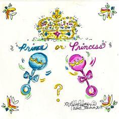 Pink or g̶r̶e̶e̶n̶ blue?!? #lilly5x5 #royalbaby