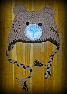 Teddy bear crochet beanie baby