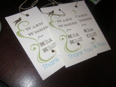 Customized Favor Tags by BellaMEvents on Etsy, $125.00