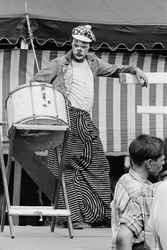 Bill Rauhauser     Clown, Michigan State fair     c.1965