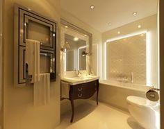 Apartament Kraków II - zdjęcie od Ciochoń - Studio,ładna łazienka szczególnie rozwiązanie oświetlenia.http://www.homebook.pl/inspiracje/lazienka/44280_apartament-krakow-ii-lazienka-styl-glamour