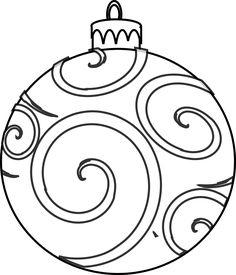 christmas ornament colouring page printable