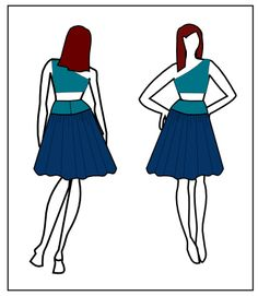 FREE SEWING PATTERN: THE SOFIA SKIRT for women.  Online PDF pattern, easy to download in letter, A4 and copy shop format.  #sewing #free