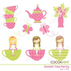the cutest clip art designs ever -- Sweet Designs by Cocoamint on etsy