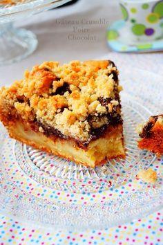 gâteau crumble chocolat poire