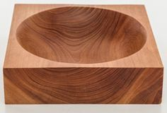 Square Wooden Bowl with Round Center thumbnail 3