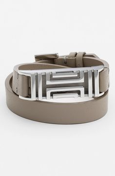 c6b5986499c5 Tory Burch for Fitbit® Leather Wrap Bracelet available at  Nordstrom Fitbit