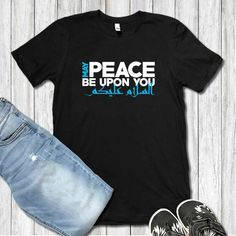 e6e03851c Peace Be Upon You Arabic Calligraphy Muslim Gift | Ramadan Gift Peace Shirt  | Unisex T-shirt