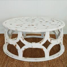 Buy this Starlight Diamond coffee table. Perfect for a coastal lifestyle. SKU-ID: Chippendale Chairs, Lattice Design, Coastal Living Rooms, Table Sizes, Room Lights, How To Distress Wood, Shape Patterns, Home Accents, Solid Wood