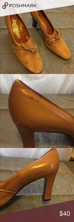 *Vintage Martinique Tan Suede Shoes* Beautiful Suede Vintage Shoes by Martinique Very beautifully crafted with some signs of wear which you can see in the photos. Open to offers. Thanks for looking. Martinique Shoes Heels