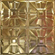 Metallic Gold Metal Ceiling Tile AT 32 #Tin # Ceiling # Drop# Ceiling# Metal #Ceiling #Tin #Tiles #Metallic