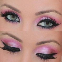 Pink eyeshadow..I really wish I could get mine to look even close to this.