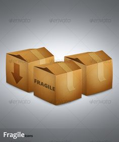 Fragile Icons — JPG Image #icon #brown • Available here → https://graphicriver.net/item/fragile-icons/115952?ref=pxcr
