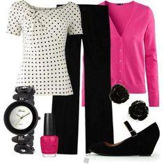 Hot pink + polka dot