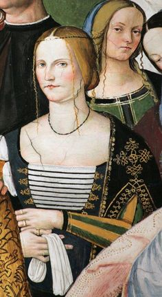 .:. Pinturicchio between 1502 and 1508. Detail of a fresco in the Piccolomini Library in the Duomo of Siena. The library was built by Pope Pius III in honour of his uncle, Pope Pius II (Aeneas Piccolomini) and decorated with frescoes