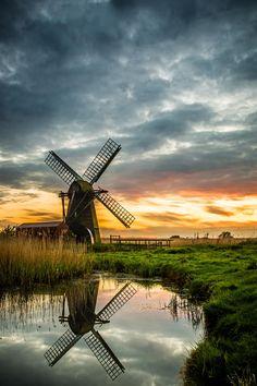 Herringfleet Windpump, Norfolk, England