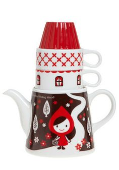 Little Red Riding Hood Tea Pot - for two
