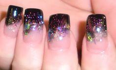 Cosmic nails -- so pretty!