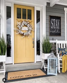 Home Reno, House Goals, Colored Front Doors, Front Door Colors, My Dream Home, Knock Knock, Building A House, Exterior Doors, Exterior House Colors