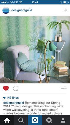Designers guild wallpaper love these colours